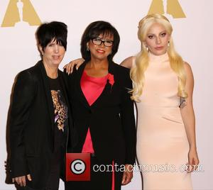 Diane Warren, Cheryl Boone Isaacs and Lady Gaga