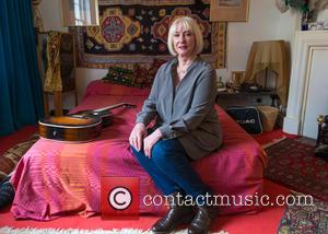 Cathy Etchingham - Cathy Etchingham, girlfriend of Jimmy Hendricks who lived at the flat with him in 1968-69, posing on...