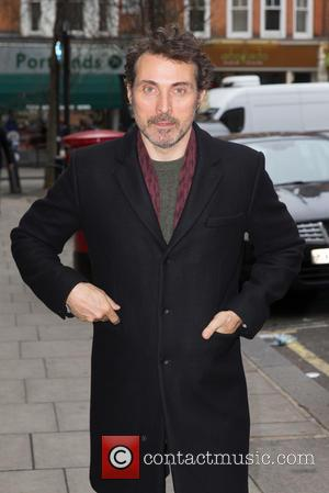 Rufus Sewell - Rufus Sewell pictured arriving at the Radio 2 studio at BBC Western House - London, United Kingdom...