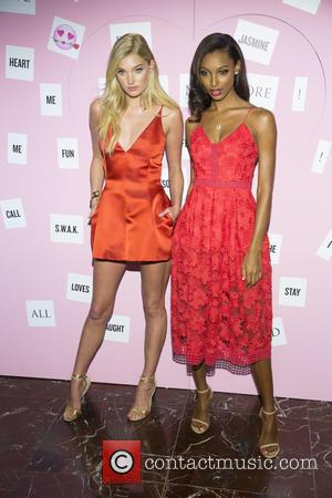 Elsa Hosk , Jasmine Tookes - Victoria's Secret Herald Square at Victoria Secret Herald Square, Victoria's Secret - New York,...