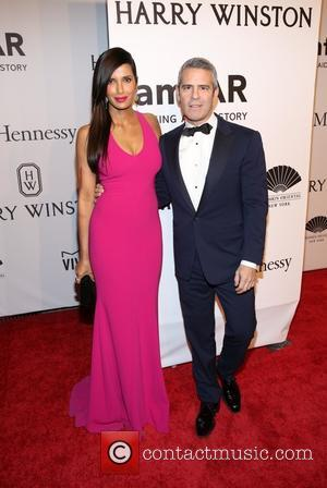 Padma Lakshmi and Andy Cohen