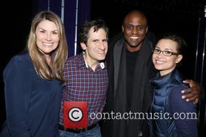 Heidi Blickenstaff, Seth Rudetsky, Wayne Brady , Lea Salonga - Backstage at the Broadway musical Disaster! at the Nederlander Theatre....