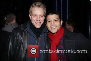 Adam Pascal and Telly Leung