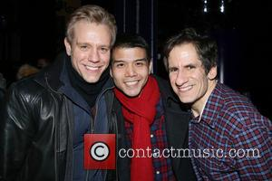 Adam Pascal, Telly Leung and Seth Rudetsky
