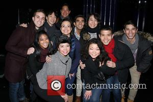 Dan Horn, Michael J. Lee, Lea Salonga, Telly Leung and Cast Of Allegiance