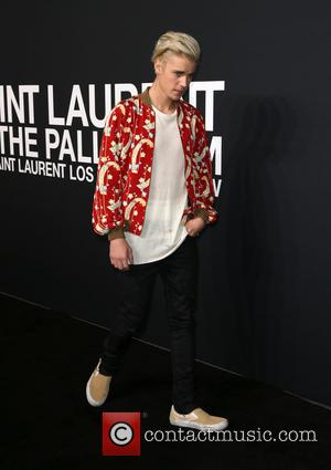 Justin Bieber - Saint Laurent at Hollywood Palladium - Arrivals at The Palladium - Hollywood, California, United States - Wednesday...