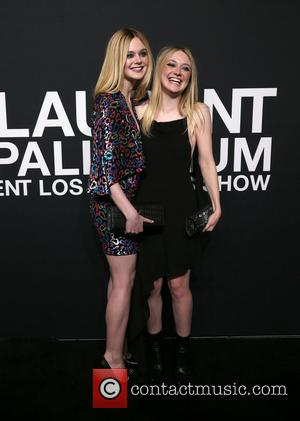 Elle Fanning , Dakota Fanning - Saint Laurent at Hollywood Palladium - Arrivals at The Palladium - Hollywood, California, United...