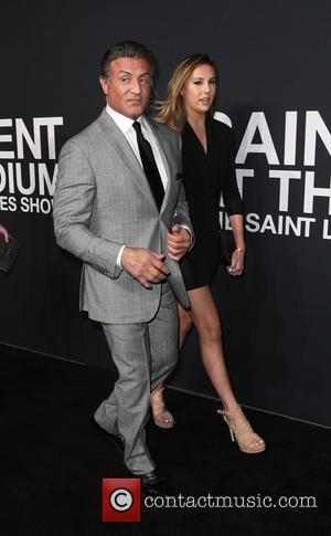 Sylvester Stallone, Sistine Stallone , Sophia Stallone - Saint Laurent at Hollywood Palladium - Arrivals at The Palladium - Hollywood,...