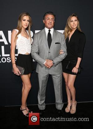 Sylvester Stallone, Sistine Stallone and Sophia Stallone