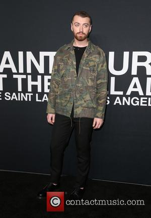 Sam Smith - Saint Laurent at Hollywood Palladium - Arrivals at The Palladium - Hollywood, California, United States - Wednesday...