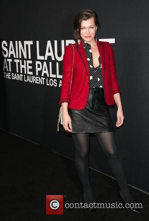 Milla Jovovich - Saint Laurent at Hollywood Palladium - Arrivals at The Hollywood Palladium - Los Angeles, California, United States...