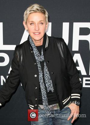 Ellen DeGeneres - Saint Laurent at Hollywood Palladium - Arrivals at The Hollywood Palladium - Los Angeles, California, United States...
