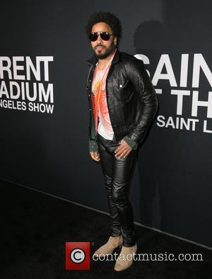 Lenny Kravitz - Saint Laurent at Hollywood Palladium - Arrivals at The Hollywood Palladium - Los Angeles, California, United States...