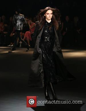 Model - Saint Laurent at Hollywood Palladium - Runway at The Hollywood Palladium - Los Angeles, California, United States -...