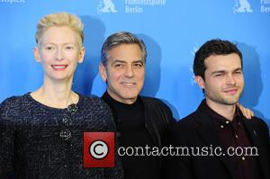 Tilda Swinton, George Clooney and Alden Ehrenreich