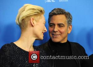 Tilda Swinton and George Clooney