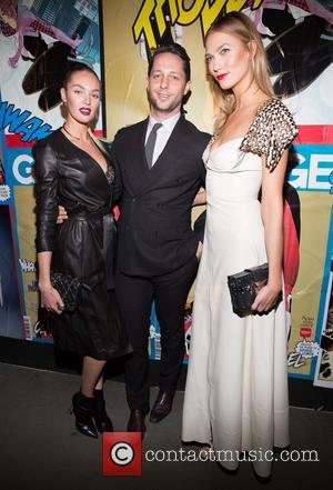 Candice Swanepoel, Derek Blasberg and Karlie Kloss