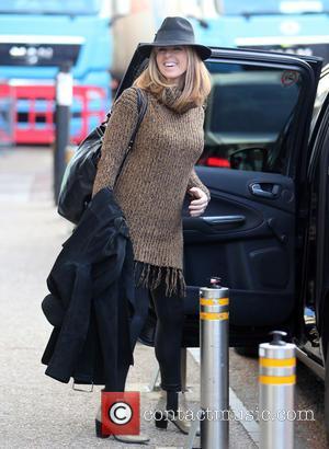Kate Garraway - Kate Garraway outside ITV Studios - London, United Kingdom - Thursday 11th February 2016