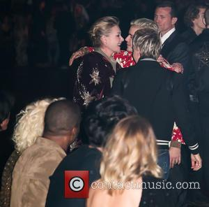 Portia De Rossi, Justin Bieber, Ellen DeGeneres, Lady Gaga , Rosie Huntington-Whiteley - Saint Laurent at Hollywood Palladium - Fashion...