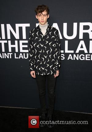 Troye Sivan - Saint Laurent fashion show at the Hollywood Palladium - Arrivals at The Hollywood Palladium - Los Angeles,...
