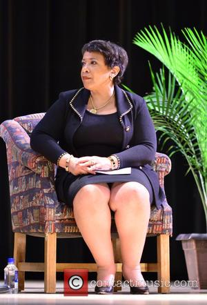 Loretta E. Lynch - U.S. Attorney General host Youth Town Hall with Student Peace Ambassadors and Local law enforcement officers...