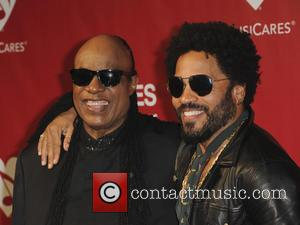 Lenny Kravitz and Stevie Wonder