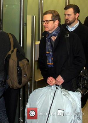 Colin Firth - Colin Firth seen arriving at Berlin Tegel for 66th annual International Berlin Film Festival (Berlinale). - Berlin,...