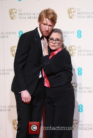 Domhnall Gleeson and Carrie Fisher