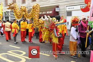 Atmosphere - Chinese New Year celebrations in London at Trafalgar Square, Chinese New Year - London, United Kingdom - Sunday...