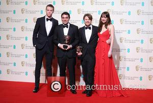 Naji Abu Nowar, Will Poulter, Rupert Lloyd and Dakota Johnson