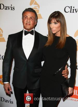 Sylvester Stallone , Jennifer Flavin - 2016 Pre-GRAMMY Gala And Salute to Industry Icons Honoring Irving Azoff at The Beverly...