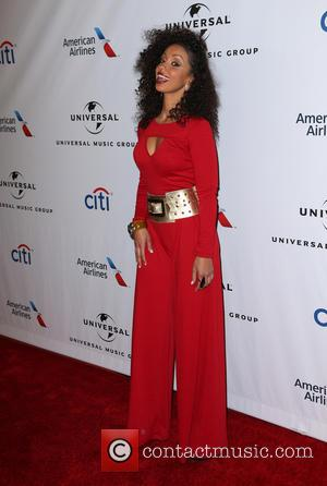 Mya - Universal Music Group's 2016 GRAMMY After Party - Arrivals at The Theatre At The Ace Hotel - Los...