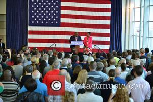 Bill Clinton, Riviera Beach Mayor Thomas A. Masters and Kashamba Miller Anderson