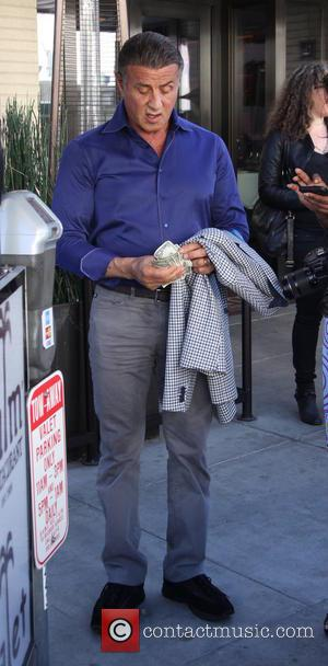 Sylvester Stallone - Sylvester Stallone leaving The Palm at beverly hills - Beverly Hills, California, United States - Tuesday 16th...
