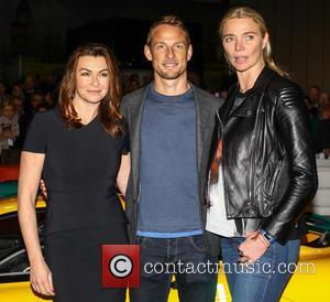 Jensen Button, Jodie Kidd and Suzi Perry