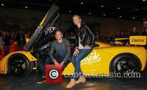 Jensen Button and Jodie Kidd