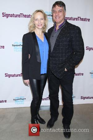 Laila Robins , Robert Cuccioli - Opening night party for Old Hats at the Signature Theatre Company - Arrivals. at...