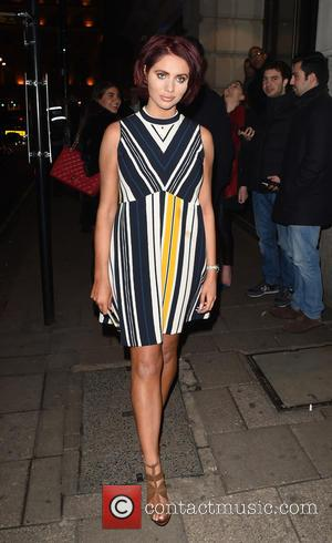 Amy Childs - Amy Childs leaves Novikov Restaurant & Bar in Mayfair after dining out with friends - London, United...