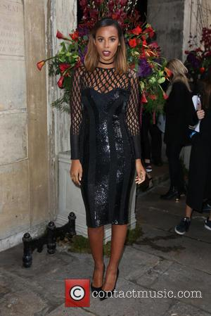 Rochelle Humes - London Fashion Week Autumn/Winter 2016 - Julien Macdonald - Front Row at London Fashion Week - London,...