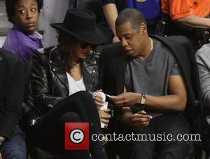 Jay Z , Beyonce' - Celebrities at the Los Angeles Clippers game. The Golden State Warriors defeated the Los Angeles...