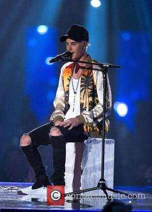 Justin Bieber - Brit Awards Show at the 02 Arena in London. at 02 Arena, Brit Awards - London, United...