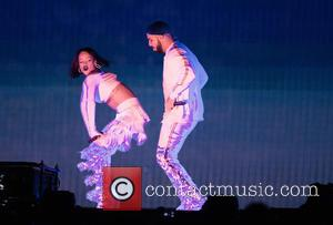 Rihanna , Drake - Brit Awards Show at the 02 Arena in London. at 02 Arena, Brit Awards - London,...