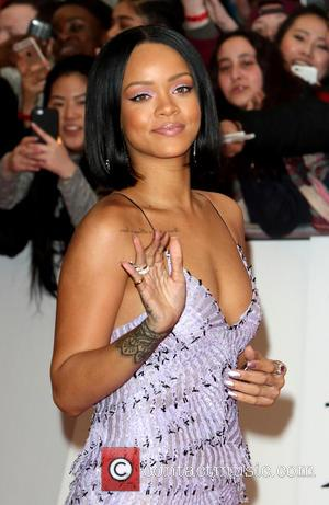 Rihanna - Brit Awards Red Carpet 2016 at the O2 Arena, London at O2 Arena, Brit Awards - London, United...