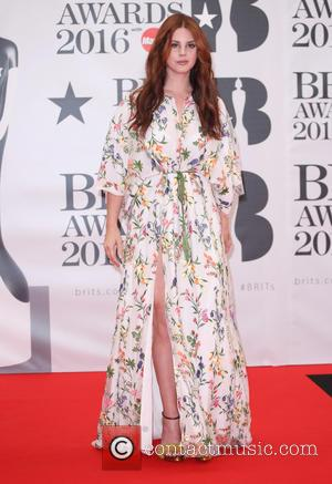 Lana Del Rey - The Brit Awards 2016 (Brits) held at the O2 - Arrivals at The Brit Awards -...