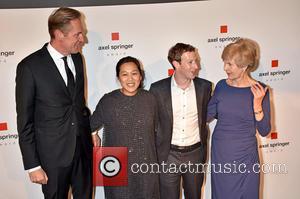 Mathias Doepfner, Priscilla Chan, Mark Zuckerberg and Friede Springer