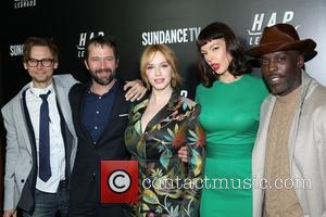 Jimmi Simpson, James Purefoy, Christina Hendricks, Pollyanna Mcintosh and Michael K. Williams