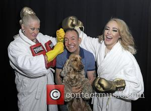 Stephanie Davis, Kim Woodburn and Jeremy Joseph