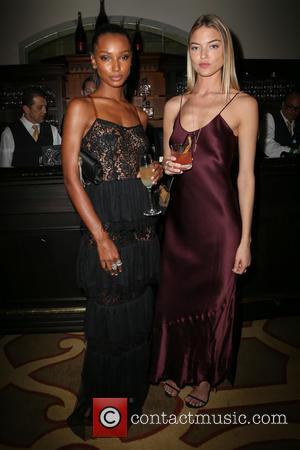Jasmine Tookes , Martha Hunt - Weinstein Company's Pre-Oscar Dinner 2016 at Montage Beverly Hills at Montage Beverly Hills -...