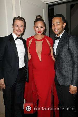 Derek Hough, John Legend and Chrissy Teigen