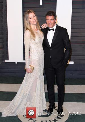 Antonio Banderas , Nicole Kimpel - Vanity Fair Oscar Party 2016 held at the Wallis Annenberg Center for the Performing...